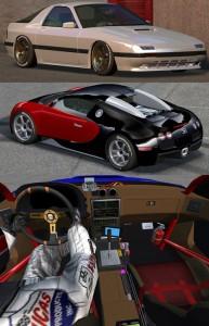 Lfs Bugatti Veyron VE Mazda RX7 FC3S yaması