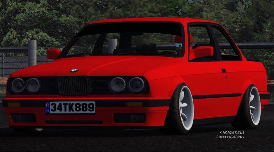 Bmw E30 - 2Lfs BMW E30 325i narçiçeği kırmızısı yaması