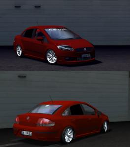 Lfs Fiat linea mercan kırmızılı araba yaması linea